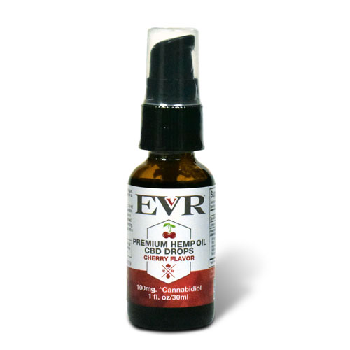 30ml EVR Premium Hemp Oil Drops Cherry Flavor 100mg CBD