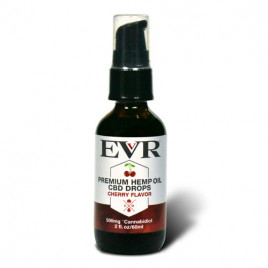 60ml EVR Premium Hemp Oil Drops Cherry Flavor 500mg CBD