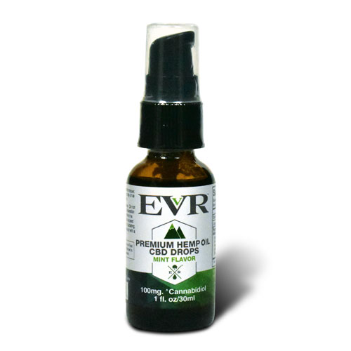 30ml EVR Premium Hemp Oil Drops Mint Flavor 100mg CBD