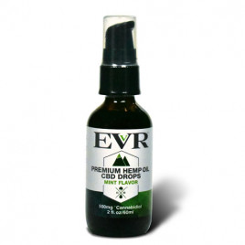 60ml EVR Premium Hemp Oil Drops Mint Flavor 500mg CBD
